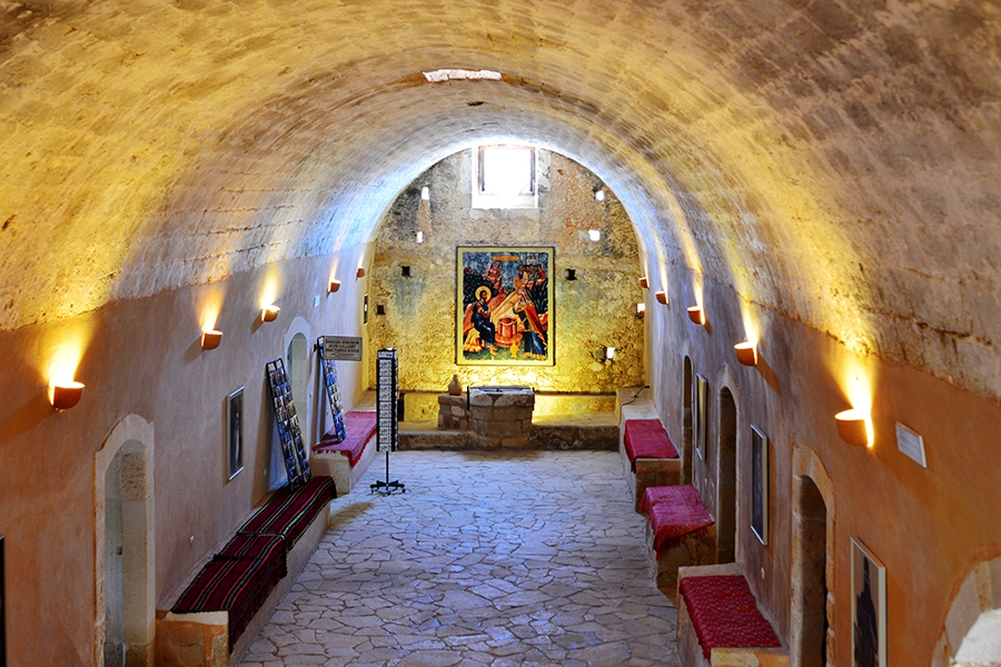 Arkadi inside monastery