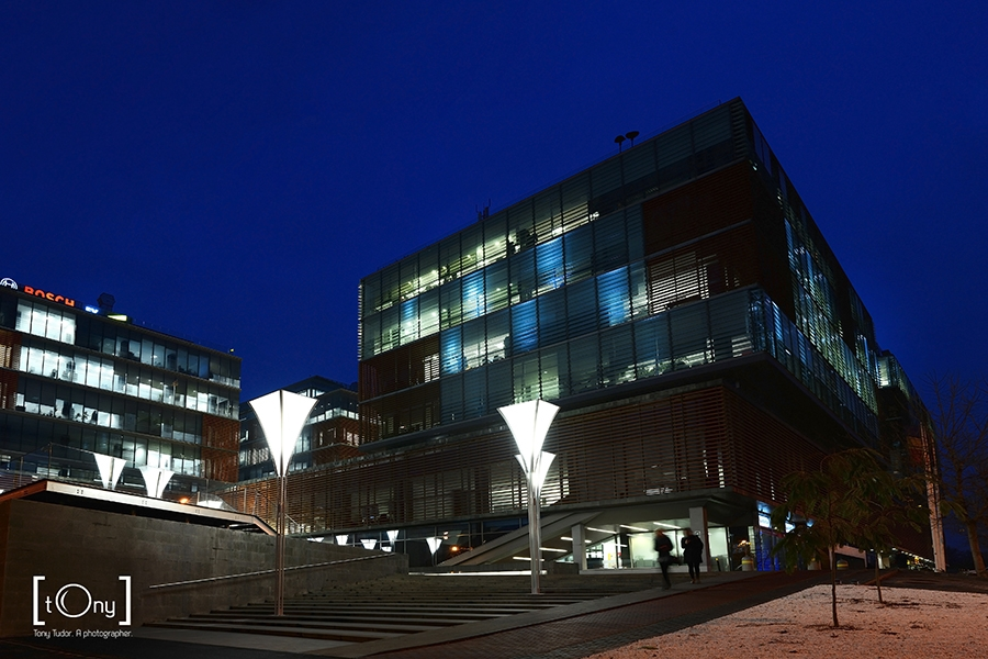 Timisoara City Business Centre night