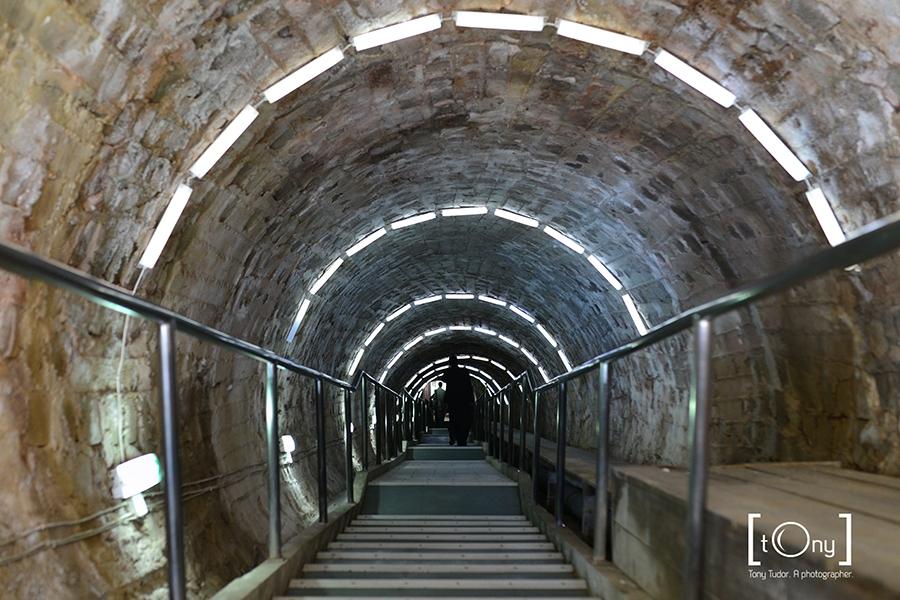 salt mine entrance tunnel