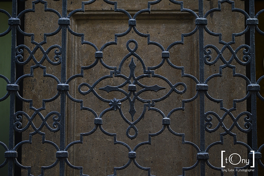 wrought iron grid