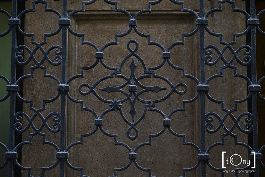 wrought iron grid
